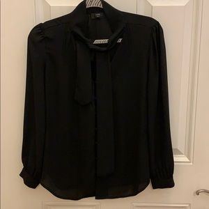 JCrew Tie Neck Blouse